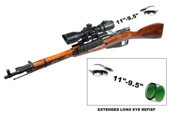 UTG 2-7X44 Scout SWAT scope on Mosin Nagant