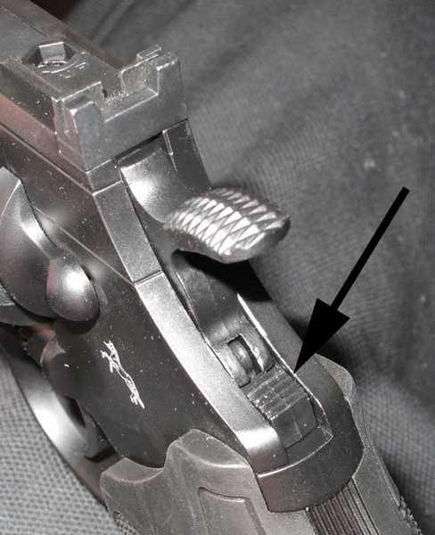 Colt Python manual safety