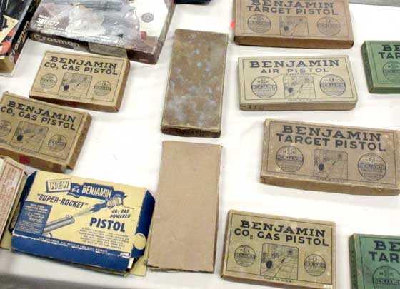vintage pellet pistol boxes