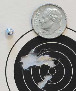 Colt Python target 1