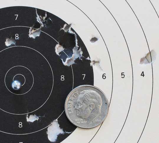 Colt Python target 4