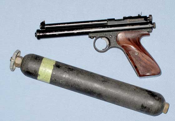 Crosman 116 pistol and bulk tank