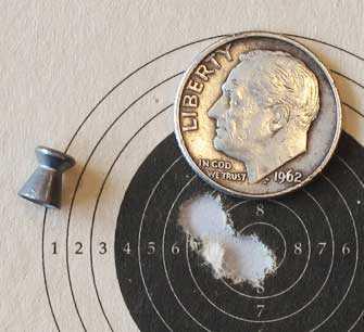 RWS R10 Match Pistol target