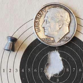 H&N Match Pistol target seated deep
