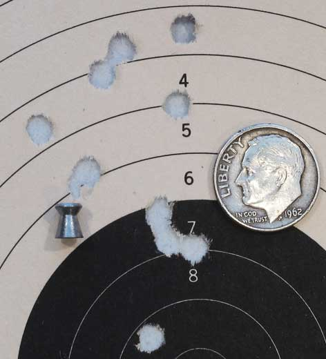 Daisy 880 Beeman H&N Match target