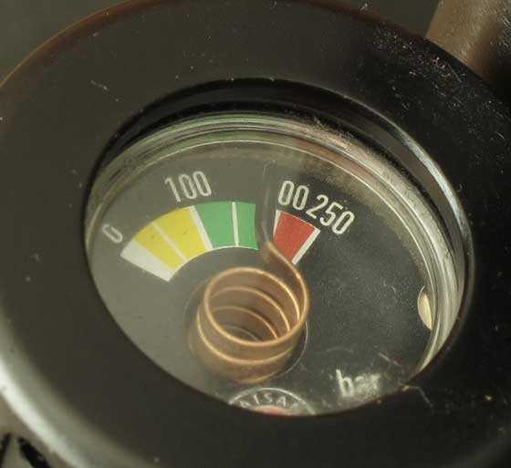 Hatsan AT44S-10 Long QE air cylinder gauge