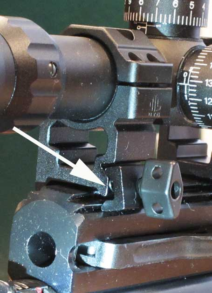 Hatsan AT44S-10 Long QE scope ring base on rifle