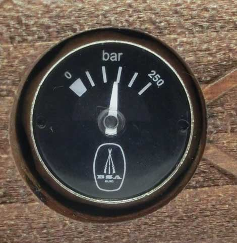 BSA Scorpion SE beech stock pressure gauge
