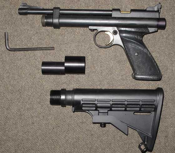 Crosman 2240 air pistol stock removed
