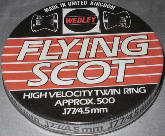 Webley Flying Scott tin