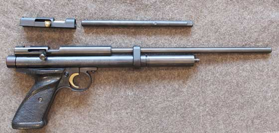 Crosman 2240 air conversion long barrel