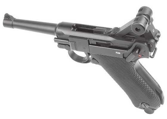 Legends P08 blowback BB Pistol left action open