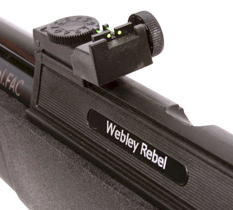 Webley Rebel air rifle rear sight