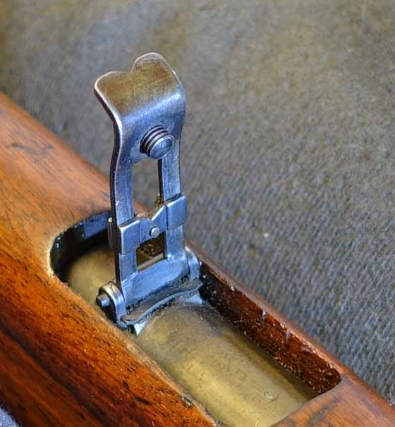 American Boy Scout rifle rear sight up