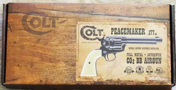 Colt Single Action Army BB revolver box