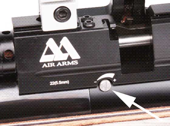 Air Arms S510 Ultimate Sporter power adjuster
