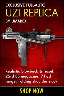 Uzi full-auto submachine gun
