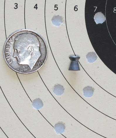 Gletcher Nagant pellet revolver HN Finale target