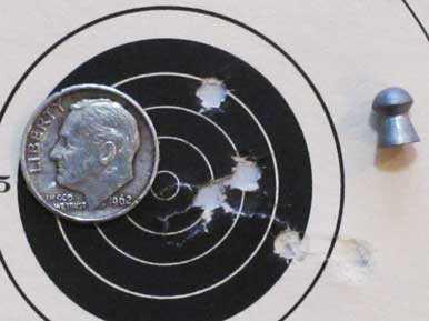 Air Arms TDR rifle medium 1 group JSB