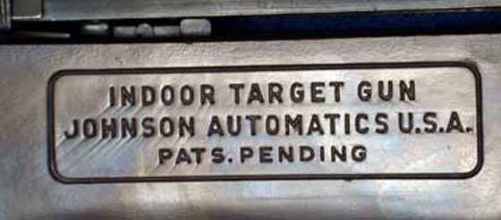 Johnson Indoor Target Gun writing