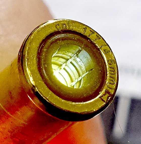 Dan Wesson pellet revolver shell
