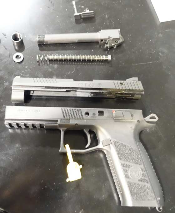 ASG CZ pistol disassembled