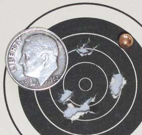 Dan Wesson BB revolver Smart Shot target