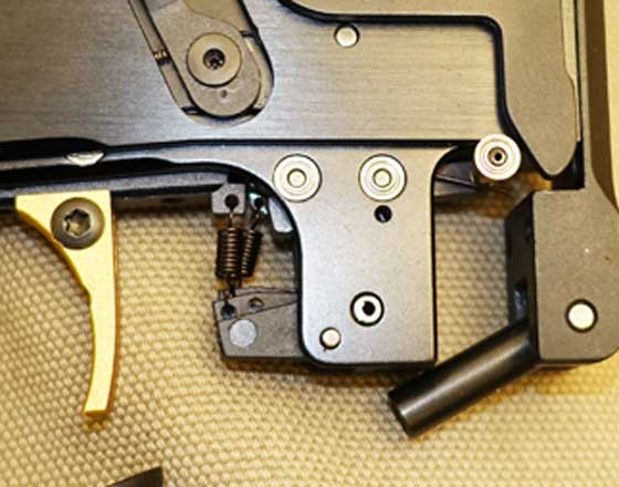Morini 162MI pistol trigger