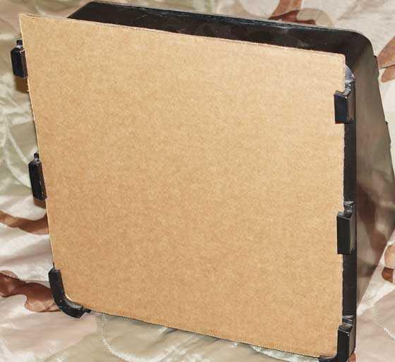 cardboard backer
