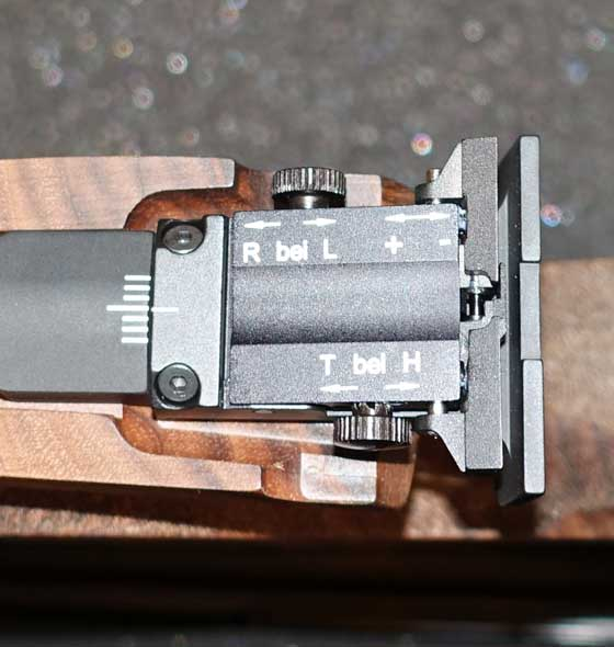 FWB P44 rear sight