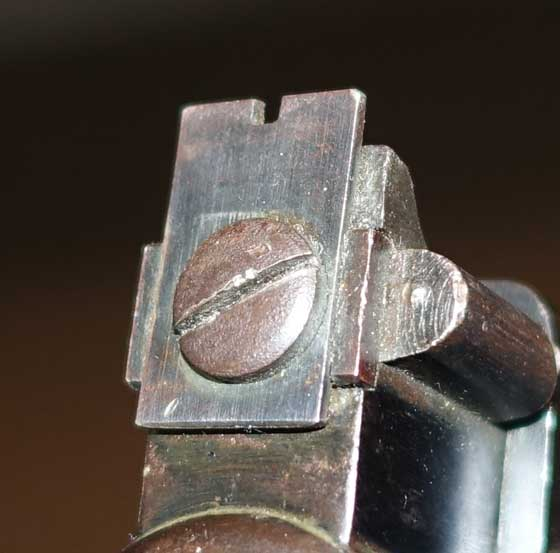 Webley Senior rear sight