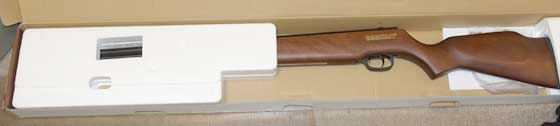 Beeman Double Barrel air rifle inside box 1