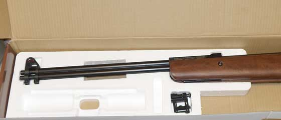 Beeman Double Barrel air rifle inside box 2