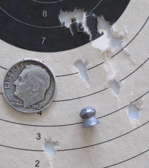 Webley Senior straight grip Wasps target 2
