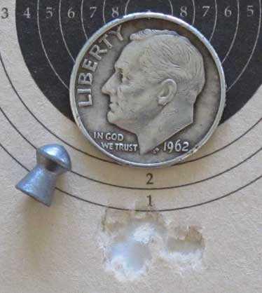 Benjamin Maximus Baracuda Match 4.53mm target