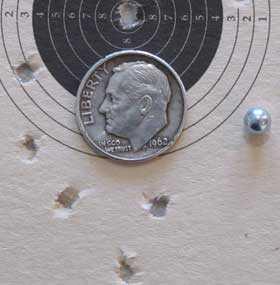 Schofield BB revolver ASG target