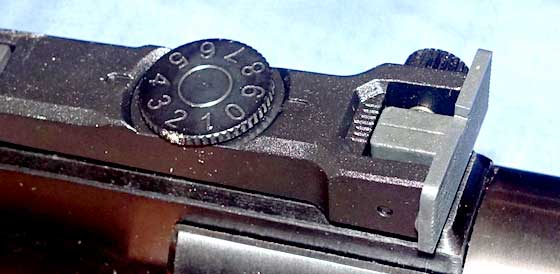 Walther Parrus rear sight