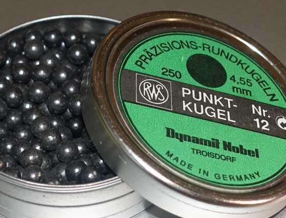 Quackenbush Number 7 4.55mm balls