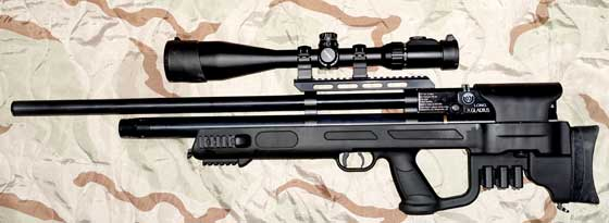 Hatsan Gladius scope on rifle