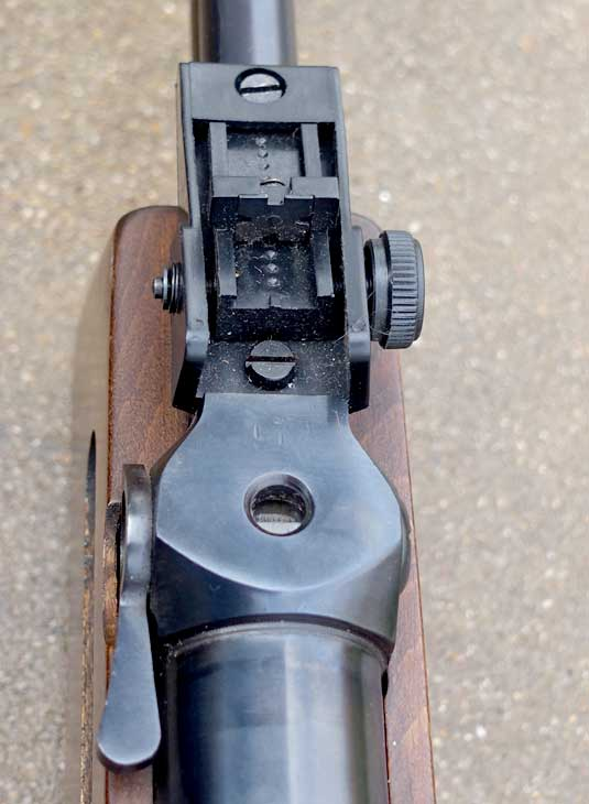 Mauser 300SL rear sight and tap