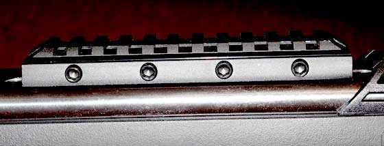 Throttle scope rail