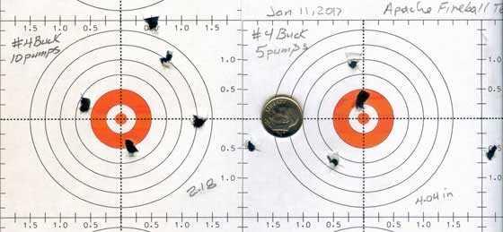 Apache Texan buckshot targets