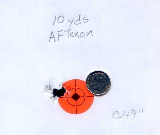 Apache Texan pellet target