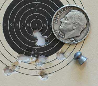 Benjamin Wildfire JSB Heavy target