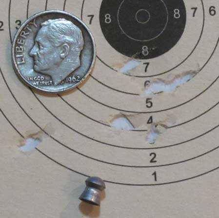 Colt Peacemaker JSB RS pellet target