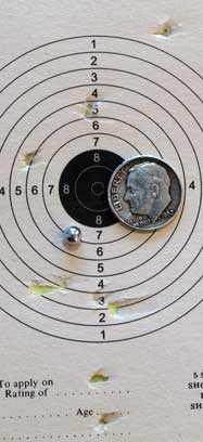 Sig P320 pistol Air Venturi BB Target