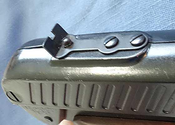 Crosman V-300 rear sight