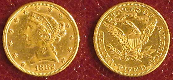 5 dollar gold both sides