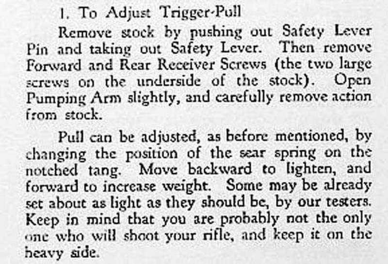 Sheridan Supergrade trigger adjust