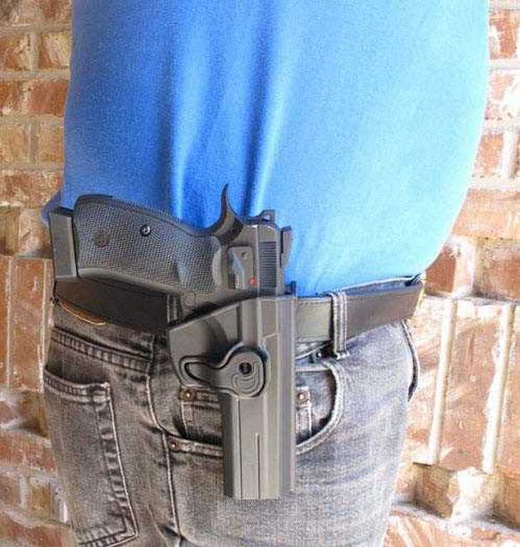 ASG SP-01 in holster